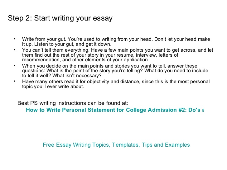 how to start a personal essay for college